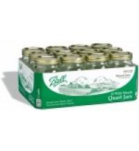 Wide mouth quart canning jar
