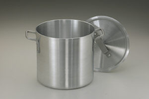 Stock pot, Aluminum, 32 qt