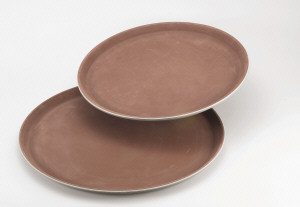 "16"" Round non slip serving tray"