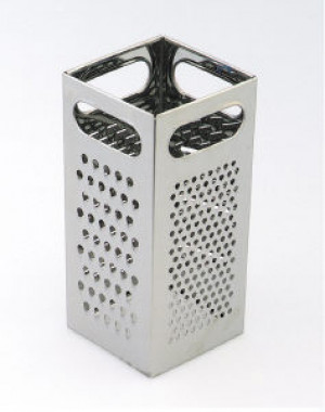 S/S Square box Grater, 4 way