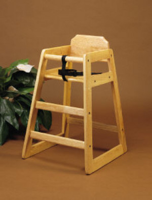 Light oak wood high chair