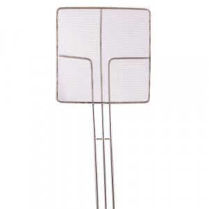 """Skimmer, 6.75"""" square, Tinned, Fine mesh"""