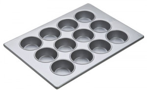 Texas Muffin Pan, 12 cup, Glazed aluminized steel