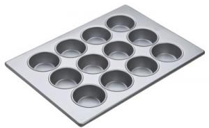 Texas Muffin Pan, 12 cup, Glazed aluminized steel