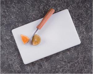 White poly Cutting Board, 6x10
