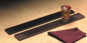 "Bar Mat, 3-1/4"" x 27"" long, Dark Brown"