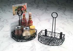 Ironworks Semi round condiment caddy