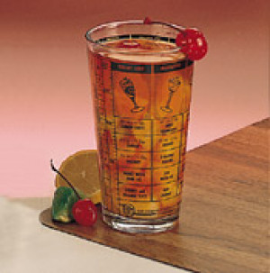 Glass Shaker, 16 oz., Printed recipes