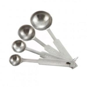 Measuring Spoon Set, s/s scoop style heavy duty