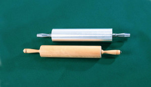 "Rolling Pin 3-1/2""diam. 18"" Barrel, aluminum"