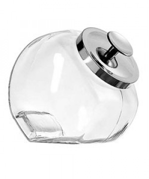 1/2 gallon Penny candy jar w/ Chrome cover