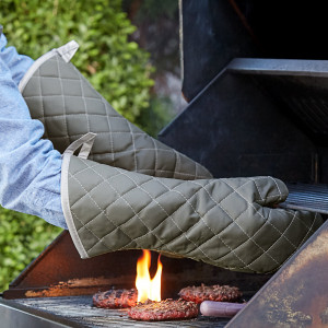 "Oven mitt, 17"", 1 pair, protects to 400 degrees"