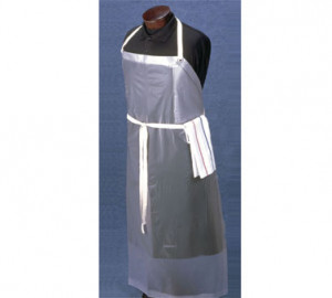 Apron, Vinyl, Frosty clear, dishwash