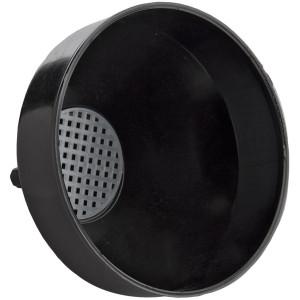 """Bar drain funnel w/ Screens 7"""" diameter Black"""