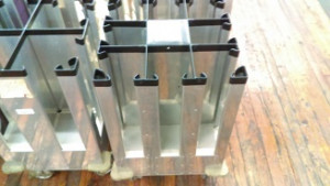 "Bucksco Used 8 Stack Dish Caddy holds 6"" plates"