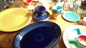 "Fiestaware Cobalt 13 3/8"" Platter"