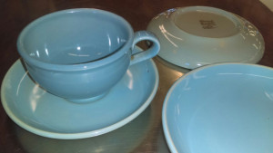 Russell Wright Ice Blue Cup & Saucer