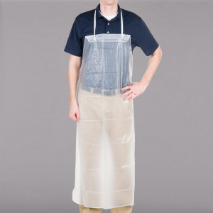 "Dishwashing Apron, Vinyl, 36"" x 45"", Clear"