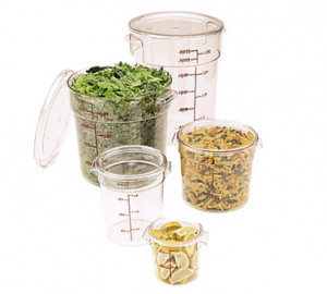 Cover for 12, 18, & 22 qt round clear containers