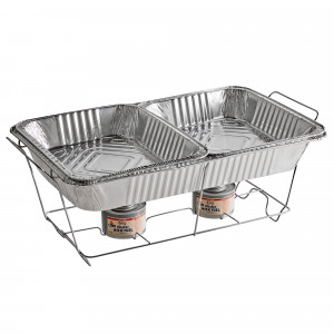 Full size chafer set, w/ fuel and foil pans