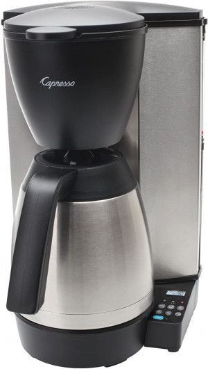 CoffeeTeam Thermal 10 cup coffeemaker, Black & S/S