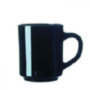 Mug, Black glass, 8.5 oz, 2dz/case