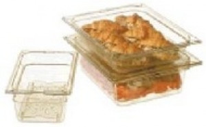 "Food pan 1/2 size 2.5"" deep, clear"