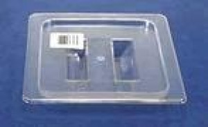 Lid for food pan, 1/4 size solid, Clear