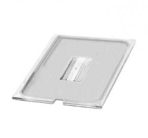Lid for food pan, 1/6 size notched, Clear