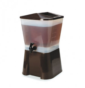 3 Gal. Beverage Dispenser Square, Black
