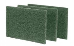 Green Scouring Pad- 6x9 Course 10/pk, #S096