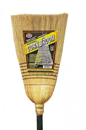 "Corn broom, 60"",Heavy Duty, 5 rows of stitches"