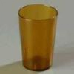 Stackable tumbler, 8 oz, Polycarbonate, Amber
