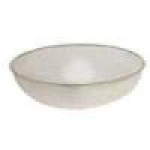 "Polycarbonate pebbled bowl, Clear, 23"", 33 qt."
