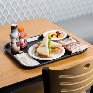 "Cafe Tray, rectangular, 14"" x 10"",  BLACK"