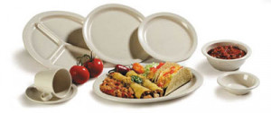 "Kingline 8"" lunch plate, White melamine, 48/cs"