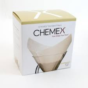 Chemex Unbleached Filter Squares packed 100