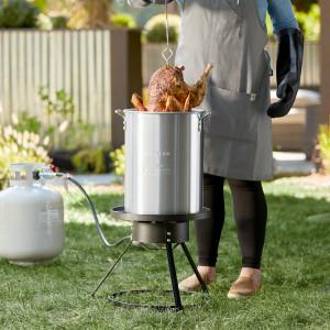 30 qt Aluminum turkey fryer set