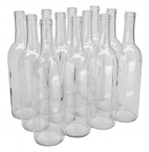 750ml Clear Wine Bottles 12/cs Bordeaux