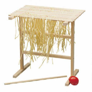 Wood pasta drying rack, 12x13x15