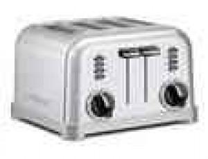 4 slice Metal textured toaster