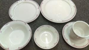 Shenango China Ravenna grapefruit bowl