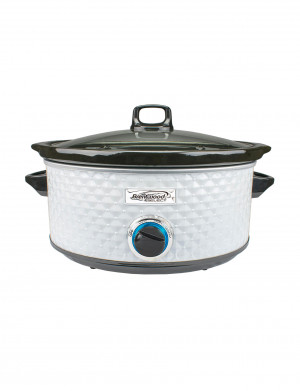 Slow cooker, 8 qt, glass lid, 3 heat levels