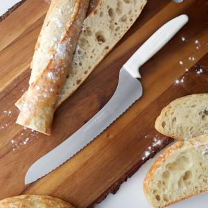 """9"""" Scalloped edge bread knife, Offset"""