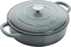 5qt Dutch Oven, Slate Grey Cast Iron, Crock-pot