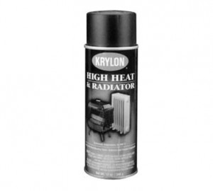 High temperature black paint, Rated to 1200 deg