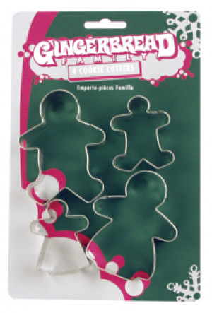 4 piece Cookie cutter set Gingerbread family