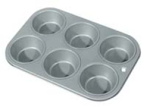 Muffin pan, Nonstick, 6 cup