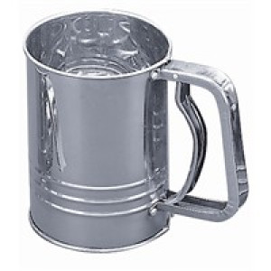 Flour sifter, 3 cup s/s