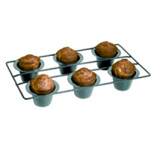 Popover pan, Nonstick, Set of 6